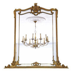 Victorian overmantle or wall mirror C1850