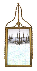 Georgian overmantle wall mirror C1810