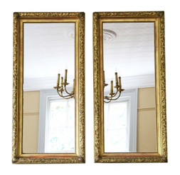 Pair of fine quality gilt overmantle or wall mirrors