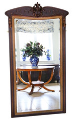 Art Nouveau full height wall mirror