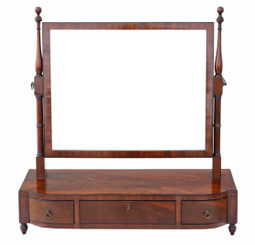 Georgian mahogany swing dressing table mirror C1800-20