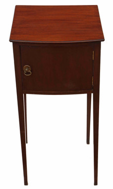 Georgian revival mahogany bedside table