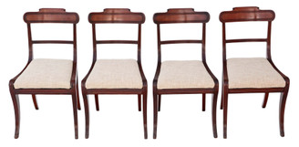 Set of 4 Regency mahogany dining chairs C1825