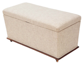 Victorian shaped upholstered ottoman