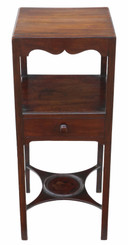 Georgian mahogany washstand bedside table C1810