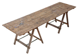 Vintage trestle kitchen refectory dining table