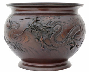 Japanese 19th Century bronze jardiniere planter