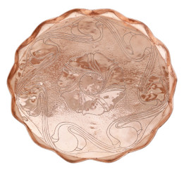 Art Nouveau copper serving tray