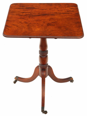 Regency plum pudding mahogany tilt top supper table