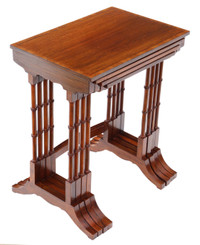 Edwardian crossbanded mahogany nest of 4 side tables