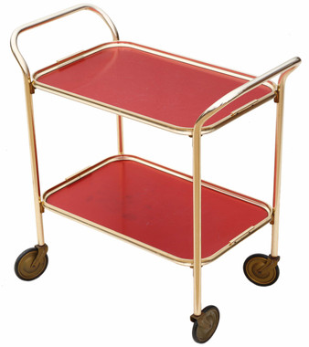 Retro Art Deco cake drinks serving table or trolley