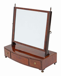 George III mahogany dressing table swing mirror