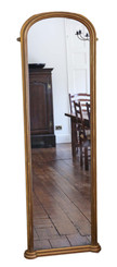 Victorian gilt full height arched wall mirror C1870