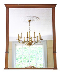 Victorian walnut overmantle or wall mirror C1900