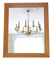 Victorian bird's eye maple overmantle or wall mirror C1880