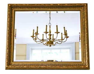 Gilt fine quality overmantle or wall mirror C1900