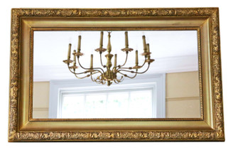 Gilt overmantle or wall mirror C1900