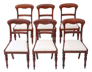 Set of 6 Victorian mahogany dining chairs C1850