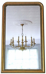 Antique large quality gilt overmantle or wall mirror 19th Century