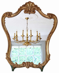 Antique large rare quality gilt overmantle or wall mirror C1900