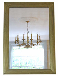 Antique large quality gilt overmantle or wall mirror C1900-1920 Art Deco