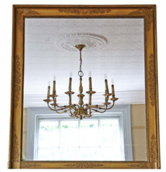 Antique 19th Century large Victorian gilt overmantle or wall mirror