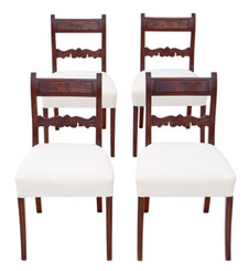 Set of 4 Regency mahogany C1825 dining chairs