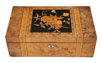 Victorian marquetry writing box desk table slope
