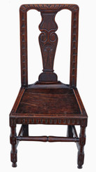 Georgian 18th Century oak hall, side occasional decorative chair