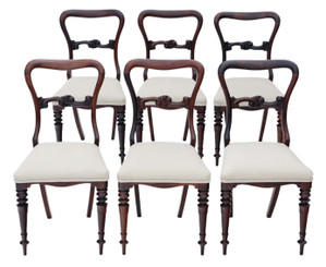 Set of 6 Victorian rosewood dining chairs C1870