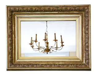 19th Century gilt overmantle / wall mirror