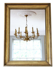 Gilt overmantle wall mirror 19th Century