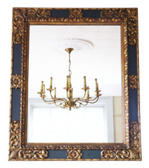 Large quality gilt and ebonised wall mirror early 20th Century