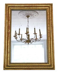 19th Century overmantle gilt wall mirror