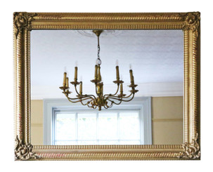 Large quality gilt wall mirror 19th Century overmantle