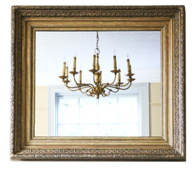 Large quality gilt wall mirror or overmantle 19th Century