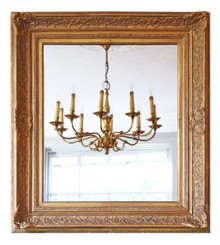 Large quality gilt over-mantle wall mirror 19th Century