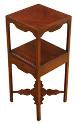 Antique quality Georgian C1810 mahogany bedside table washstand