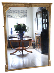 Antique very large quality gilt overmantle wall mirror 19th Century