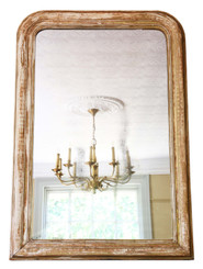 Very large gilt overmantle wall mirror 19th Century