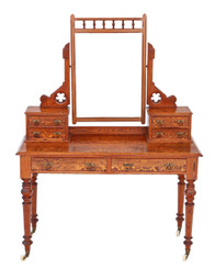 Victorian 19th Century pitch pine dressing table Aesthetic