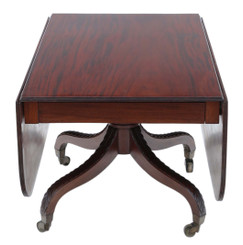 Regency C1825 Cuban mahogany drop leaf dining table