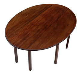 Mahogany gateleg wake dining table C1920