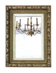 Large gilt 19th Century overmantle / wall mirror
