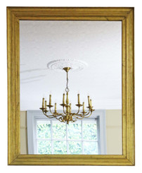 19th Century large gilt overmantle wall mirror