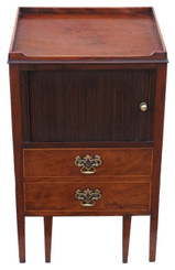 Large mahogany washstand bedside table C1800 Georgian