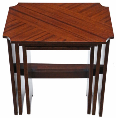 Art Deco nest of 3 tables early 20th Century