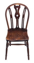 Elm and beech kitchen dining chair C1900
