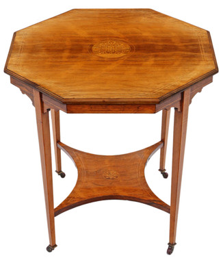19th Century rosewood octagonal centre or window table occasional side