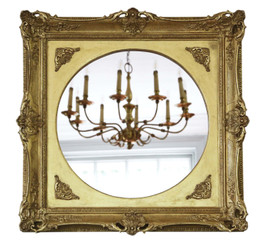 19th Century overmantle or wall mirror gilt